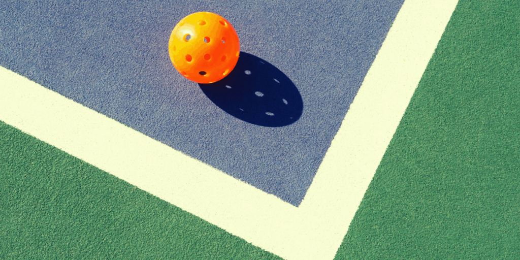This is an image of a pickleball ball.