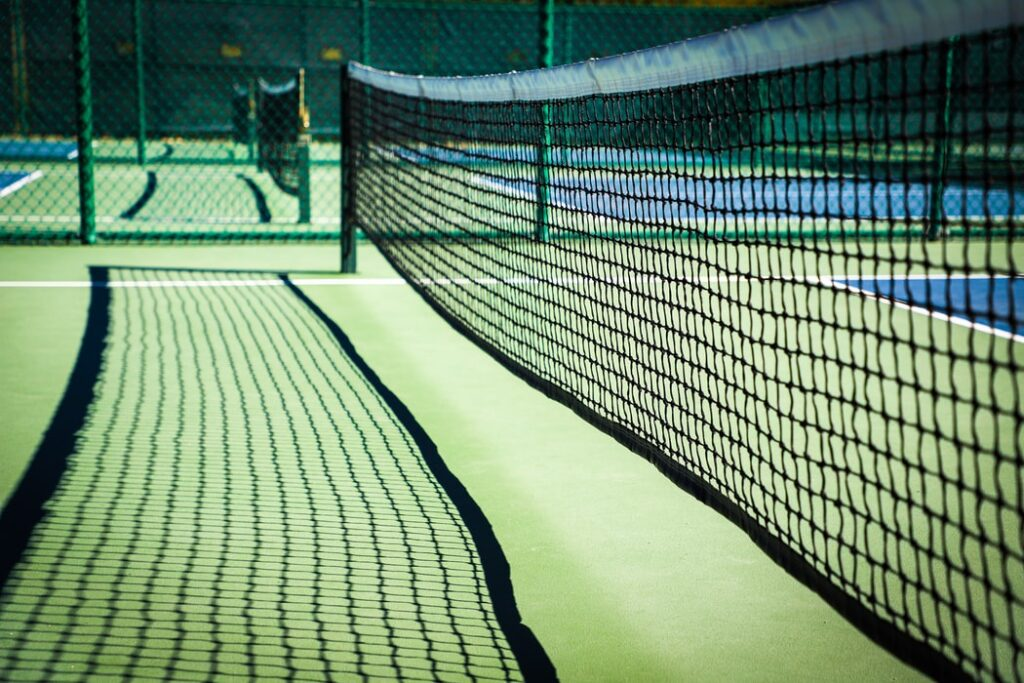This is an image of a pickleball court.