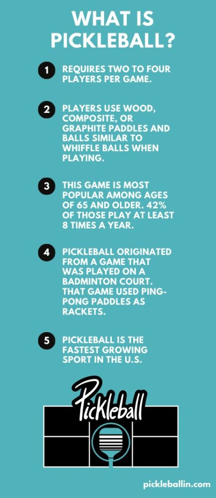 What Is Pickleball?: This image shares  the most important Pickleball information.