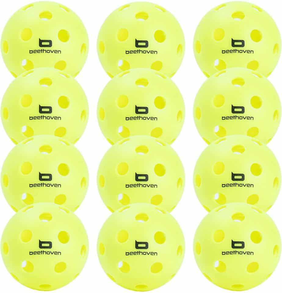 The Best Pickleball Balls: Beethoven Bird 12-Pack Indoor-Outdoor Pickleball Balls