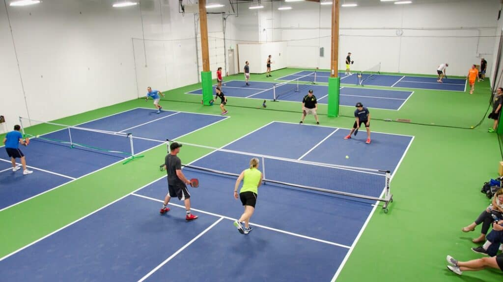 Indoor vs. Outdoor Pickleball - What's the Difference: Indoor Pickleball Court