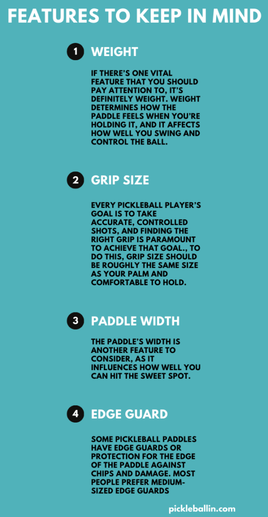 Best Pickleball Paddle in 2021: Features to Keep in Mind Infographic