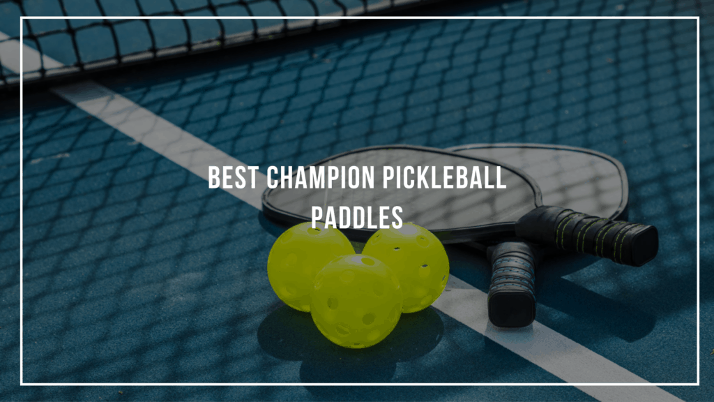 Best Champion Pickleball Paddles Featured Image